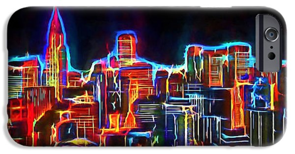 Business Digital iPhone Cases - New York Neo View 3 iPhone Case by Yury Malkov