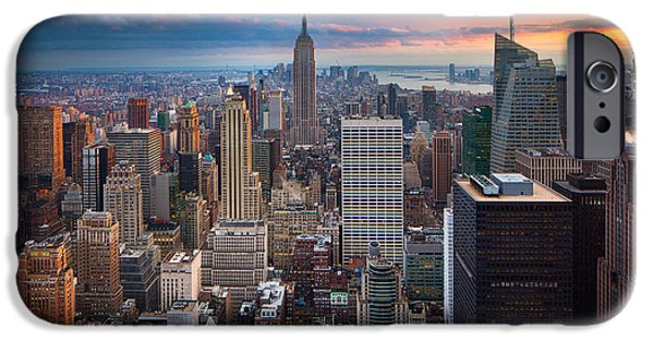 Manhattan iPhone Cases - New York New York iPhone Case by Inge Johnsson