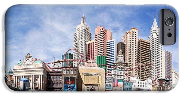 Nightclub iPhone Cases - New York New York Las Vegas iPhone Case by Jane Rix
