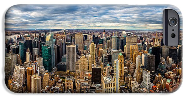 Business iPhone Cases - New York Panorama iPhone Case by Mihai Andritoiu