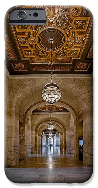 Architectural iPhone Cases - New York Public Library Corridor iPhone Case by Susan Candelario
