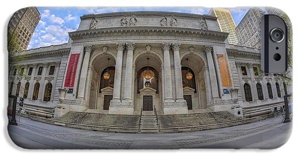 Door iPhone Cases - New York Public Library - NYPL iPhone Case by Susan Candelario