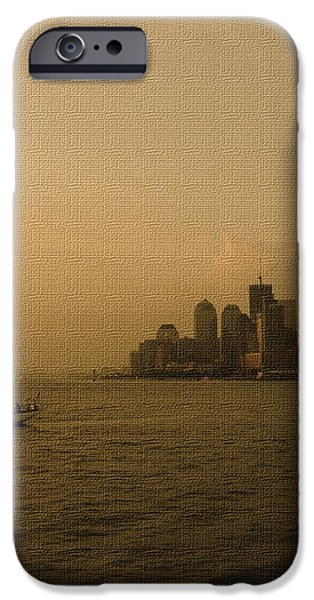 New York Sailing at Sunset iPhone Case by Avis  Noelle