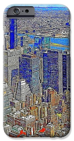 New York Skyline 20130430v3 iPhone Case by Wingsdomain Art and Photography