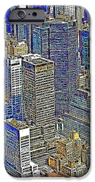 New York Skyline 20130430v5-square iPhone Case by Wingsdomain Art and Photography