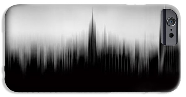 Empire State Digital iPhone Cases - New York Skyline Abstract iPhone Case by Az Jackson