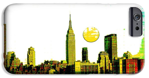 Brooklyn Bridge Mixed Media iPhone Cases - New York Skyline  iPhone Case by Celestial Images
