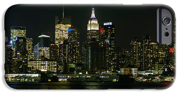 Empire State Pyrography iPhone Cases - New York Skyline  iPhone Case by Hemantha Fernando
