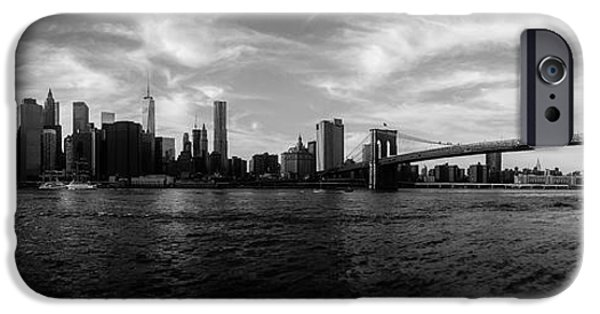 Skyscape iPhone Cases - New York Skyline iPhone Case by Nicklas Gustafsson