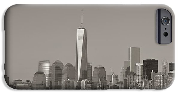 Christmas Greeting iPhone Cases - New York Skyline iPhone Case by Sonali Gangane