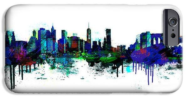 Spray Paint iPhone Cases - New York spray iPhone Case by Simon Sturge