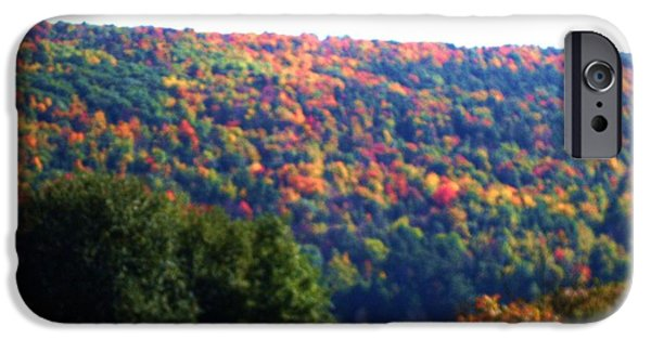 States Pastels iPhone Cases - New York State In Autumn iPhone Case by Jo-Ann Hayden