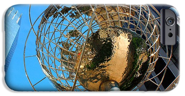 Warner Park iPhone Cases - New York Steel Globe iPhone Case by Jenny Hudson