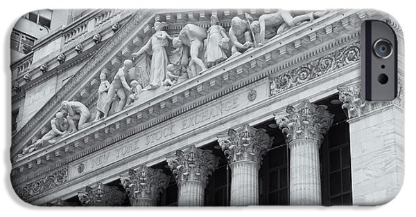 Enterprise Photographs iPhone Cases - New York Stock Exchange II iPhone Case by Clarence Holmes