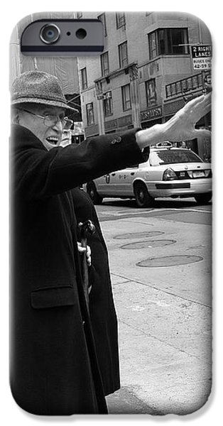 New York Street Photography 27 iPhone Case by Frank Romeo