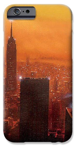 New York Sunset iPhone Case by Steve Crisp