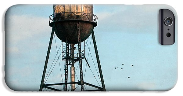 Industrial Icon iPhone Cases - New York water tower 7 iPhone Case by Gary Heller