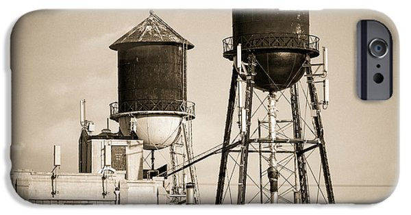 Gary Heller iPhone Cases - New York water tower 8 - Williamsburg Brooklyn iPhone Case by Gary Heller
