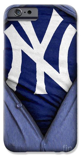 Shortstop iPhone Cases - New York Yankees Fan iPhone Case by Antony McAulay