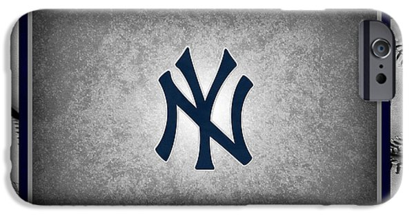 Baseball Field iPhone Cases - New York Yankees iPhone Case by Joe Hamilton