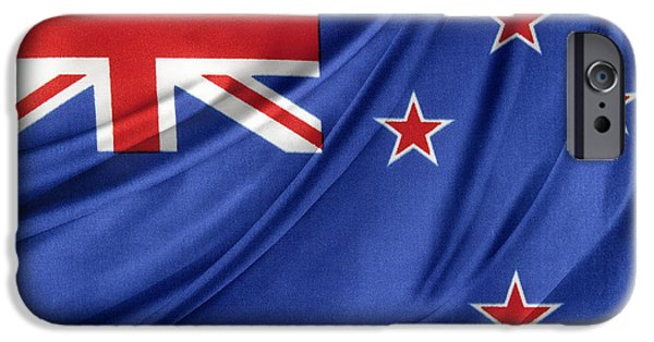 Patriotism iPhone Cases - New Zealand flag iPhone Case by Les Cunliffe