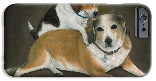 Puppies iPhone Cases - Newcomer iPhone Case by Doug Kreuger