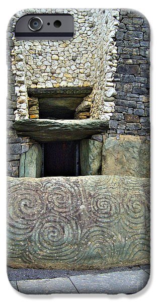 Recently Sold -  - Mounds iPhone Cases - Newgrange entrance iPhone Case by Nina Ficur Feenan