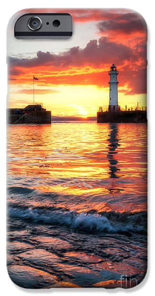 East iPhone Cases - Newhaven Harbour iPhone Case by John Farnan