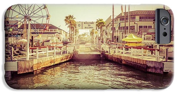 Nobody Photographs iPhone Cases - Newport Beach Balboa Island Ferry Dock Photo iPhone Case by Paul Velgos