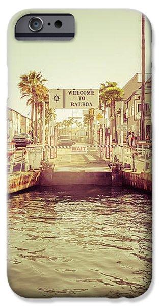 Newport Beach Balboa Island Ferry Dock Photo iPhone Case by Paul Velgos