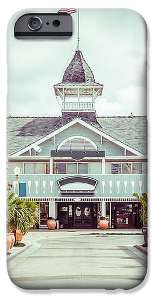 Newport Beach Balboa Main Street Vintage Picture iPhone Case by Paul Velgos