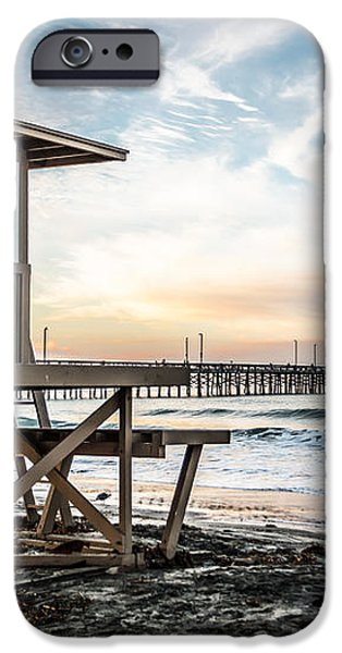 Newport Beach Pier and Lifeguard Tower 22 Photo iPhone Case by Paul Velgos