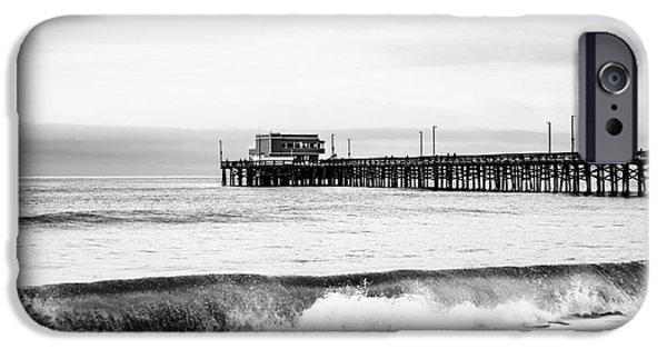 Shoreline iPhone Cases - Newport Beach Pier iPhone Case by Paul Velgos