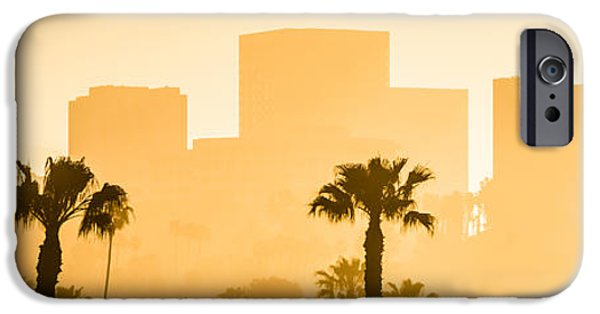 Business iPhone Cases - Newport Beach Skyline Panorama Picture iPhone Case by Paul Velgos