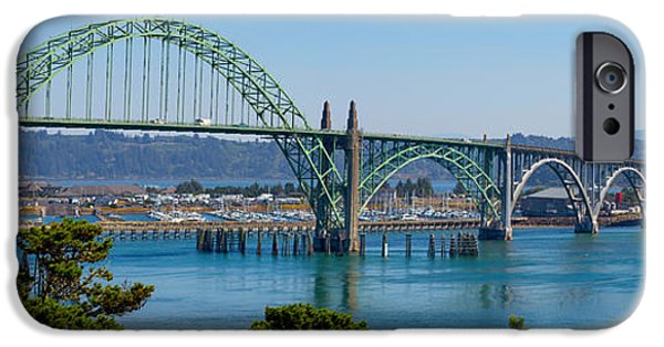 Architecture Tapestries - Textiles iPhone Cases - Newport Bridge iPhone Case by Dennis Bucklin