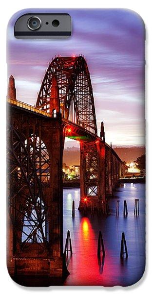 Bay Bridge iPhone Cases - Newport Dawn iPhone Case by Darren  White