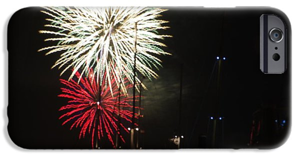 Fireworks iPhone Cases - Sparkling Mums iPhone Case by Ray Konopaske