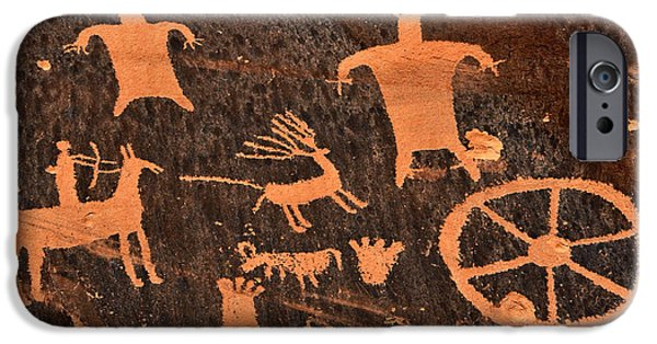 Hopi iPhone Cases - Newspaper Rock Close-up iPhone Case by Gary Whitton