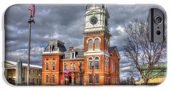 Covington iPhone Cases - Historic Newton County Court House  iPhone Case by Reid Callaway