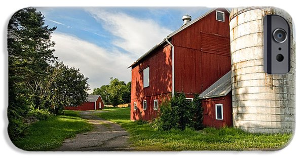 New England Dairy Farms iPhone Cases - Newtown Barn iPhone Case by Bill  Wakeley