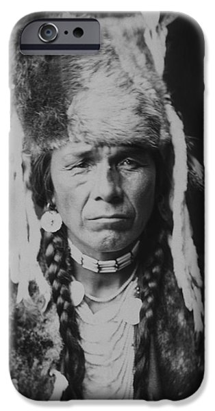 1904 iPhone Cases - Nez Perce Indian circa 1904 iPhone Case by Aged Pixel