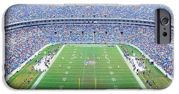 Charlotte iPhone Cases - Nfl Football, Ericsson Stadium iPhone Case by Panoramic Images