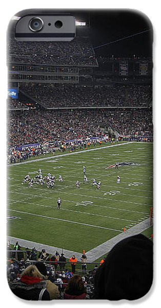NFL Patriots and Tom Brady Showtime iPhone Case by Juergen Roth