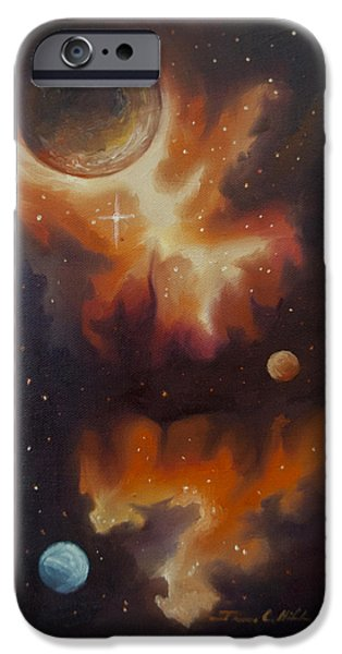 Supernova Paintings iPhone Cases - Ngc - 1015 iPhone Case by James Christopher Hill