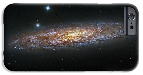 The Universe Paintings iPhone Cases - NGC 253  The Sculptor Galaxy iPhone Case by Celestial Images