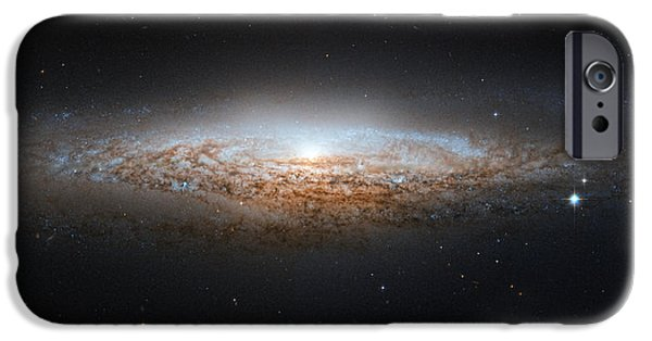 Interstellar Space Paintings iPhone Cases - NGC 2683 Spiral galaxy iPhone Case by Celestial Images