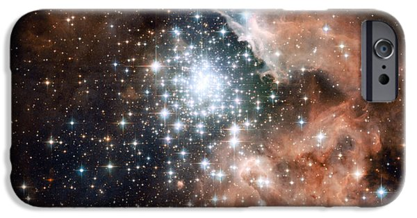 Heavenly Body iPhone Cases - Ngc 3603, Star Cluster iPhone Case by Science Source