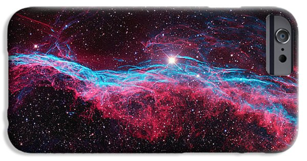 Constellations iPhone Cases - Ngc6960 iPhone Case by Celestial Images