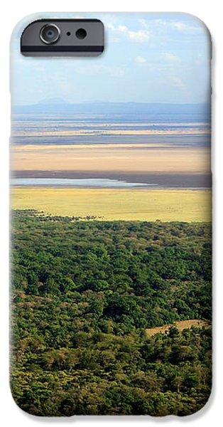 Ngorongoro Crater Tanzania East Africa iPhone Case by Aidan Moran