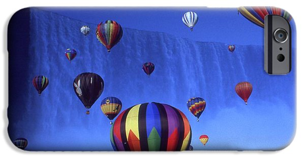 Best Buy Mixed Media iPhone Cases - Niagara Balloons - Photo Collage iPhone Case by Peter Fine Art Gallery  - Paintings Photos Digital Art